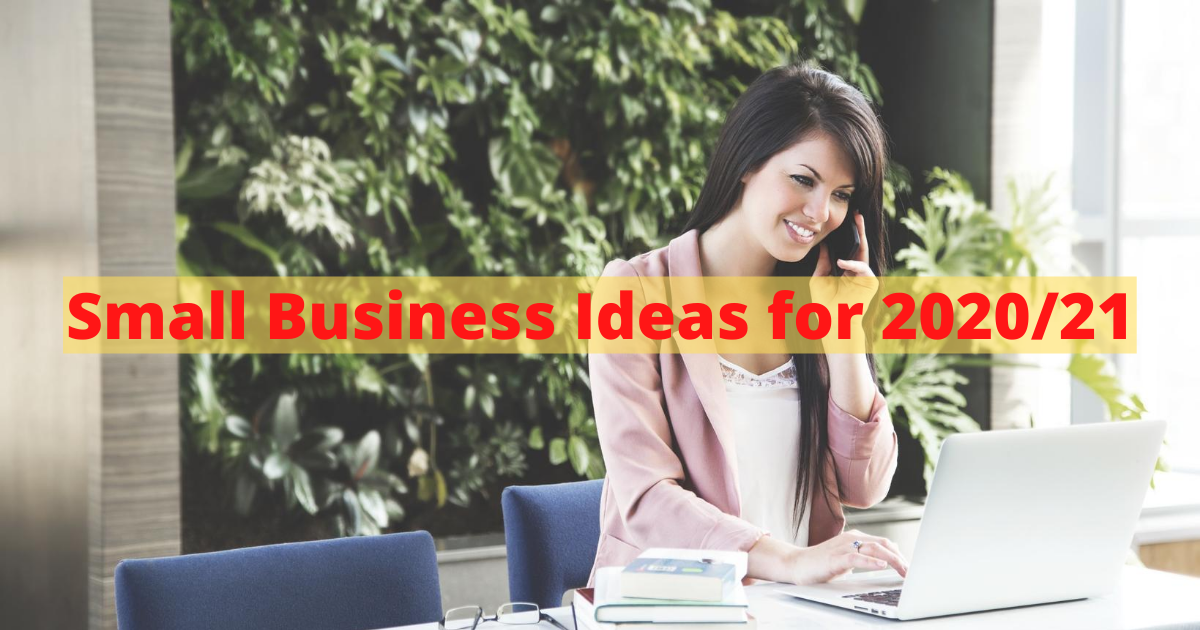 Small Business Ideas for 2020-21